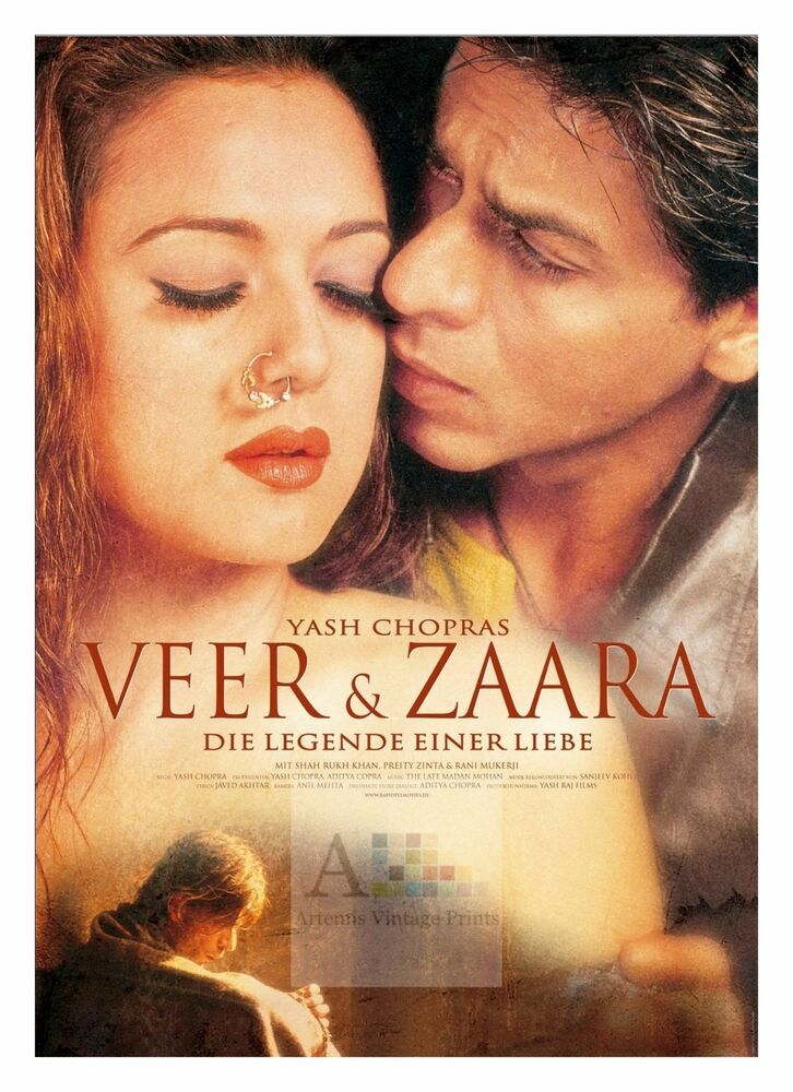 Details about Veer Zaara 2 Amitabh Bachan Bollywood Movie Posters Classic  Indian Films