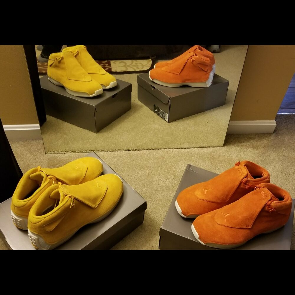 check out 2c31c 36cd5 Details about Air Jordan 18 Retro. Yellow Ochre and campfire orange