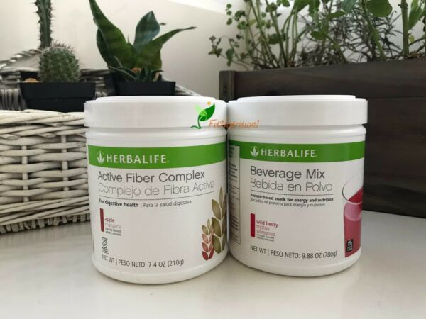 NEW HERBALIFE Beverage Mix + Active Fiber Complex Fast Shipping From US.