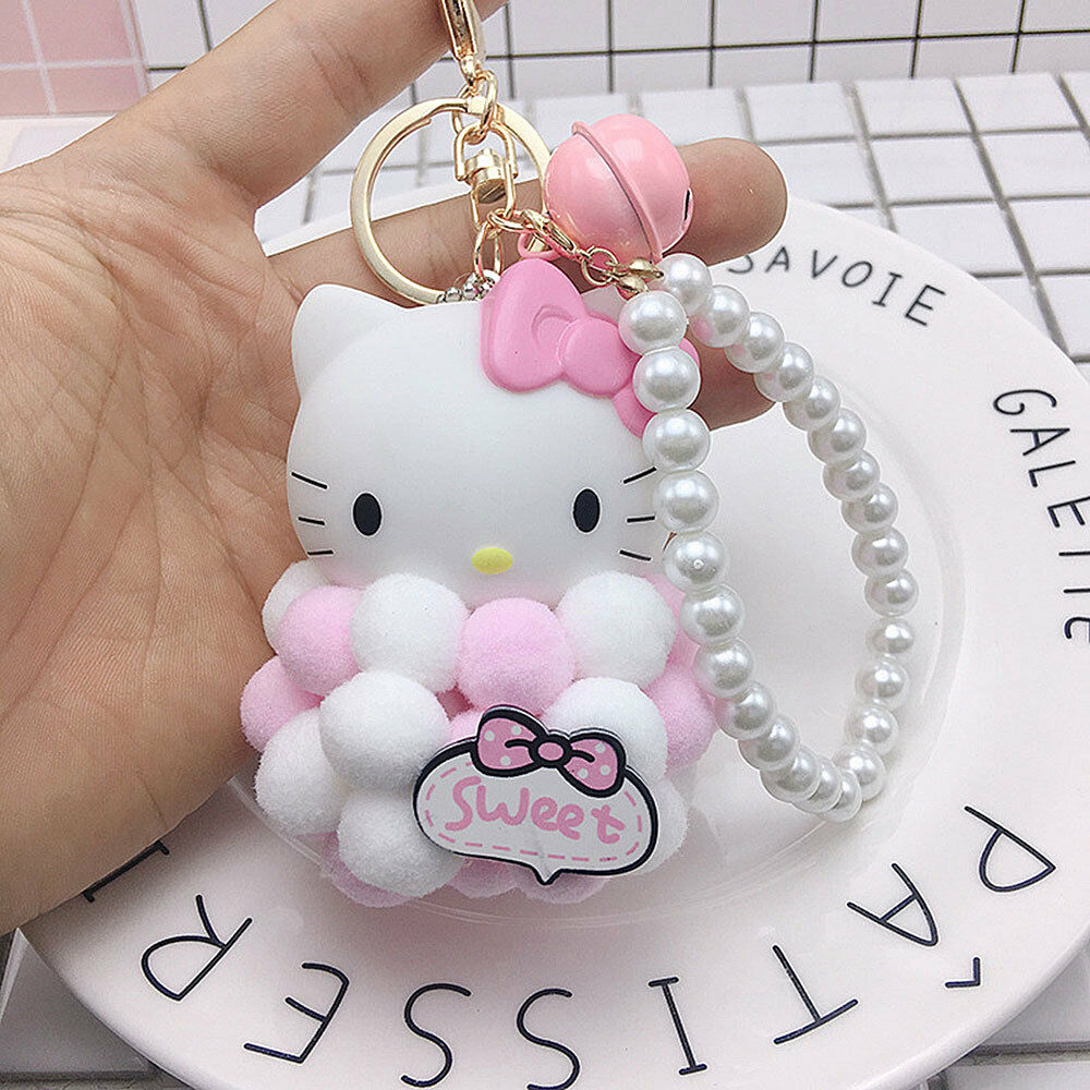 8dbef448f New Sanrio HELLO KITTY Metal Keychain Key Ring cellphone pendant # Pink  Animation Characters