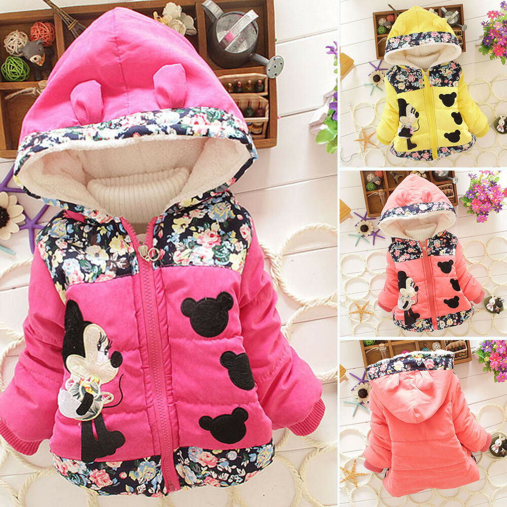 314b85d5b Details about New Baby Girl Kid Cartoon Minnie Mouse Hooded Jacket Coat  Winter Warm Outerwear