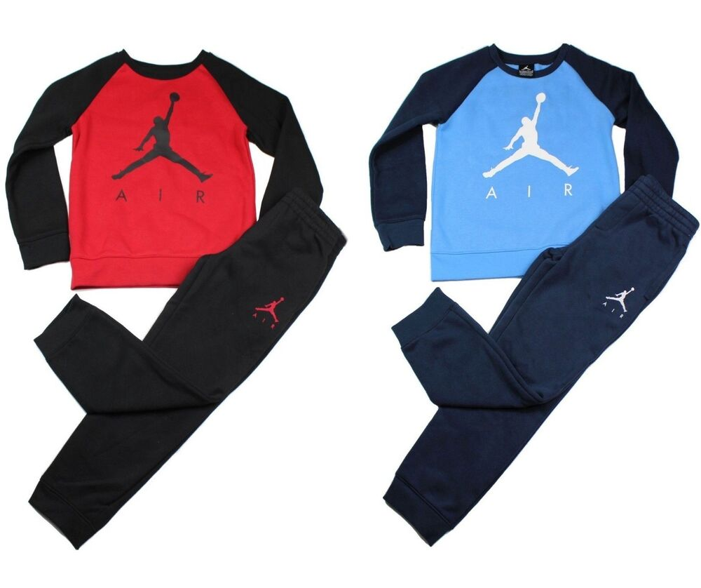 3dd4a1433c47fe Details about Air Jordan Jumpman Boys 2 Piece Warm Jogging Set Tracksuit  Blue Red Black Size 7