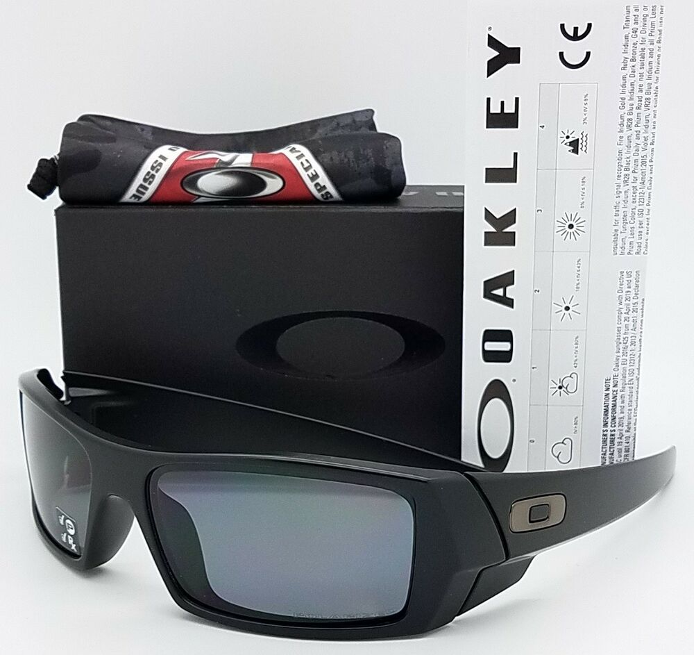 2392addfe03 Details about NEW Oakley Si Gascan sunglasses Matte Black Grey Polarized  11-122 gas Military
