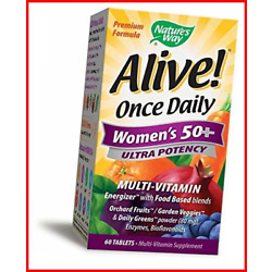 Nature's Way Alive! Once Daily Women's 50+ Multivitamin, Ultra Potency, Blends
