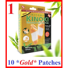 Kinoki GOLD Organic Herbal Cleansing DETOX FOOT PADS Patches Slimming Toxin 10X
