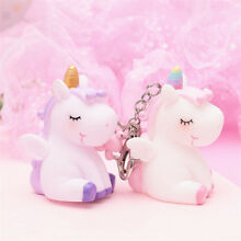 Cartoon Unicorn Key Chain Accessory Soft Silicone Keyring Ornament