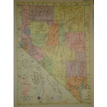 Vintage 1957 NEVADA Map ~ Old Authentic Original Atlas Map 72018