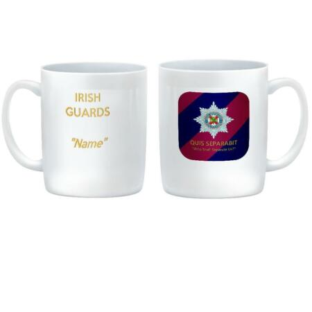 img-NEW IRISH GUARDS CUSTOMISED Ceramic Mug - Regiment Badge on Tie Colours & Motto