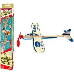 2 New Paul Guillow Wooden Balsa Airplanes Rubber Band Model Toy Plane Airplane