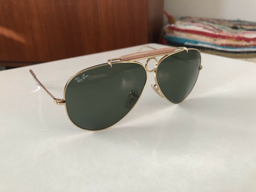be248249c38e7 Details about Ray-Ban RB3138 001 SHOOTER Gold   Black Classic G-15  58mm