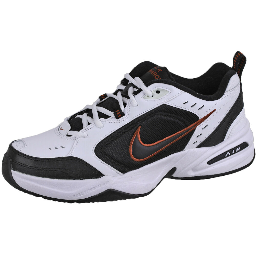 100% authentic 38603 51907 Nike Men s Air Monarch IV Trainer Shoes 415445 White Black sz10   eBay