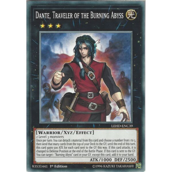 Yu-Gi-Oh Dante, Traveler of the Burning Abyss LEHD-ENC39 Common Card 1st Edition