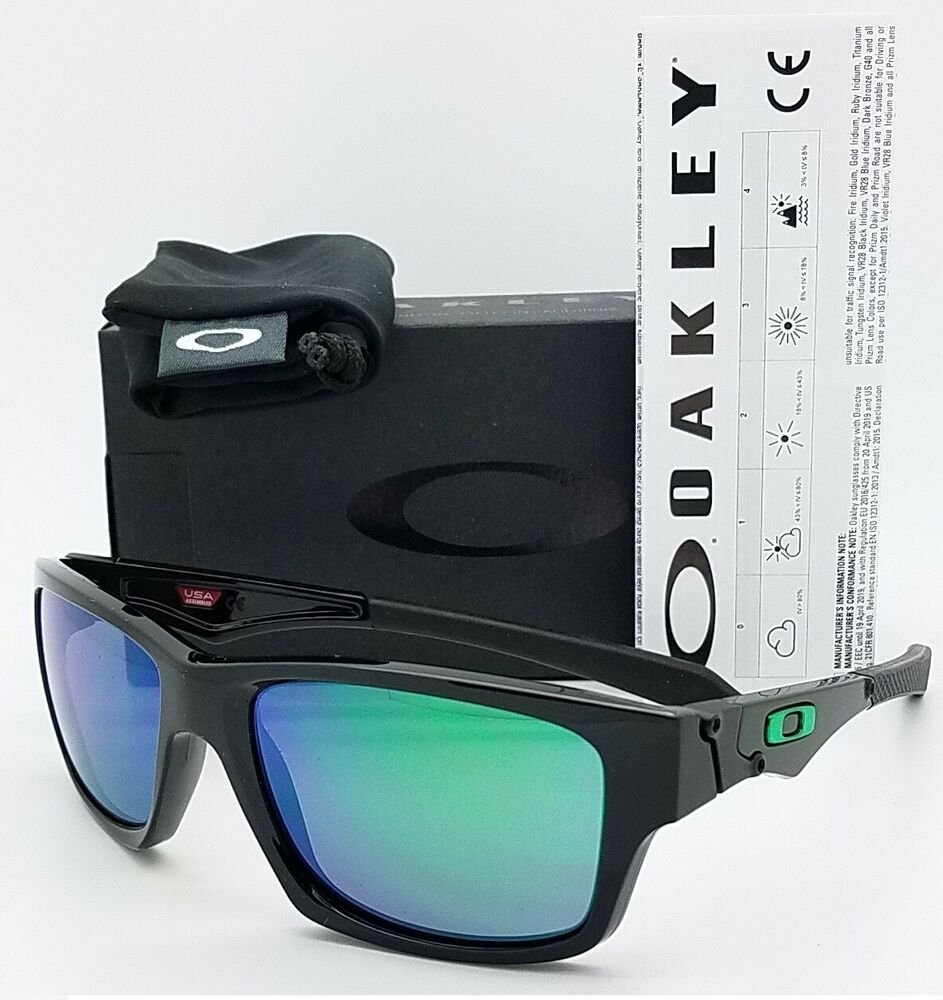 Details about NEW Oakley Jupiter Squared sunglasses Black Jade Irid 9135-05  green SQ AUTHENTIC 060d97ab5d5e
