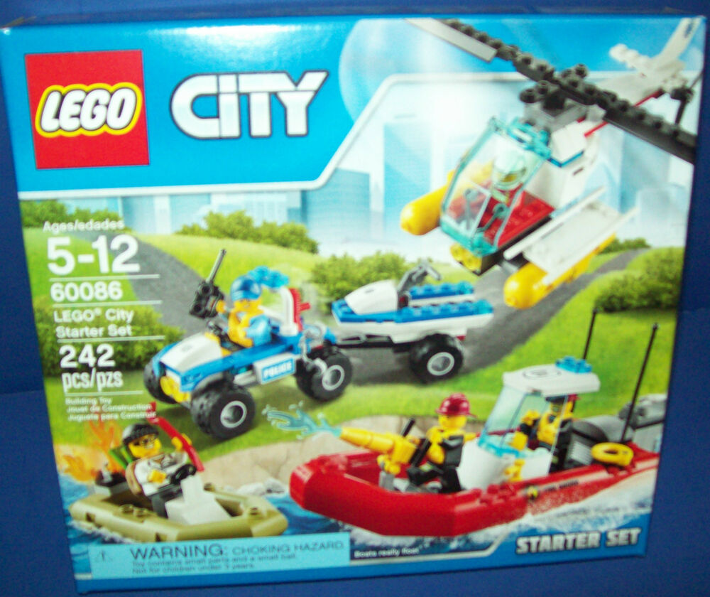 Lego 60086 City Starter Set Lego Retired 242 Pieces New In Factory