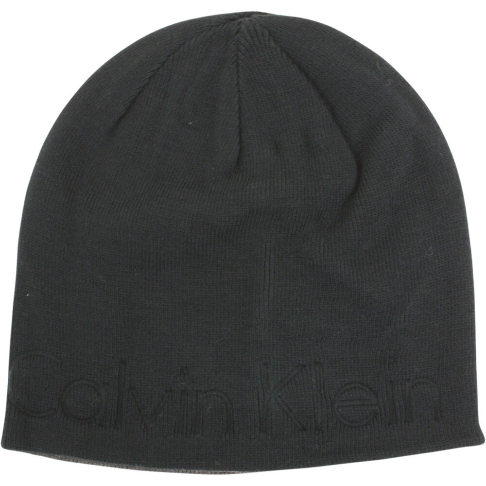 cd6157eacc0 Calvin Klein Men s Embossed Logo Beanie Cap Winter Hat (One Size Fits Most)