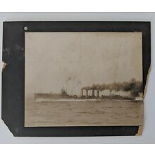 Antique Photo circa 1910 U.S.S. Drayton by N.L. Stebbins