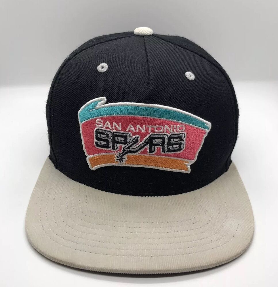 competitive price 7ffd3 eb824 Details about NBA San Antonio Spurs Cap Hat Adjustable Cotton Acrylic WooL  Mitchell   Ness