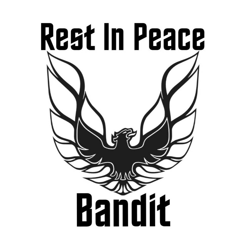 Details about car window decal truck outdoor sticker memorial rest in peace bandit movie star