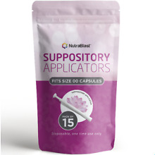 NUTRABLAST DISPOSABLE VAGINAL SUPPOSITORY APPLICATORS (15-PACK) FITS MOST BRANDS