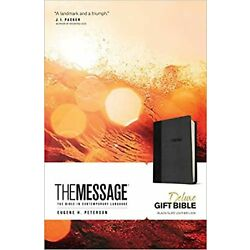The Message Deluxe Gift Bible (Leather-Look, Black/Slate): The Bible in Conte...