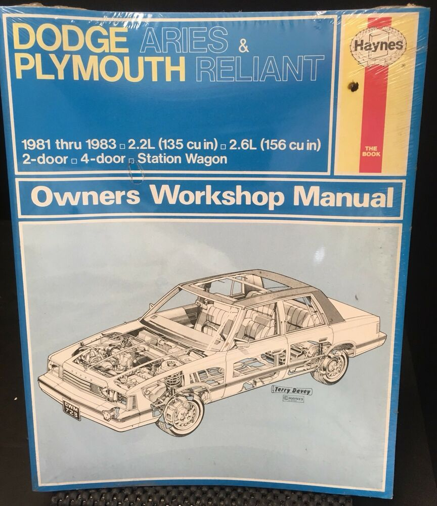 Factory Sealed Haynes Manual Dodge Aries Plymouth Reliant