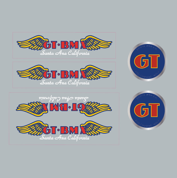 Details about gt bmx santa ana decal set white font on clear