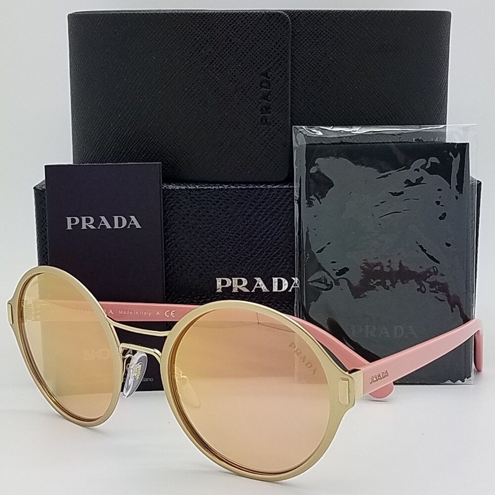 8bfc53028c71 Details about New Prada sunglasses PR57TS EAG6S0 Pink Rose Gold Mirror  AUTHENTIC PR 57 round