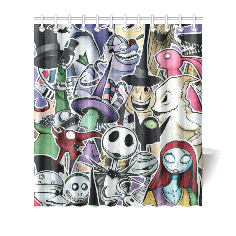 Details About Decorative Curtain The Nightmare Before Christmas Shower 66x72