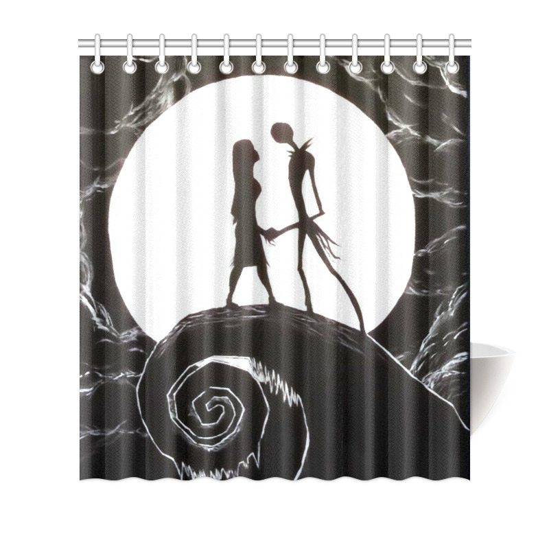 Details About The Nightmare Before Christmas Fabric Waterproof Shower Curtain 66x72