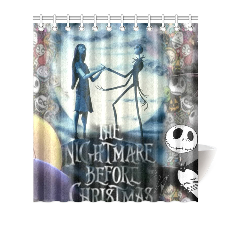 Details About The Nightmare Before Christmas Shower Curtain Bath Decor 66x72