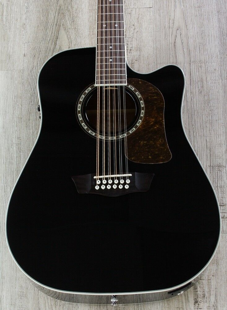 washburn hd10sce12b heritage 10 series 12 string acoustic electric guitar 801128764634 ebay. Black Bedroom Furniture Sets. Home Design Ideas