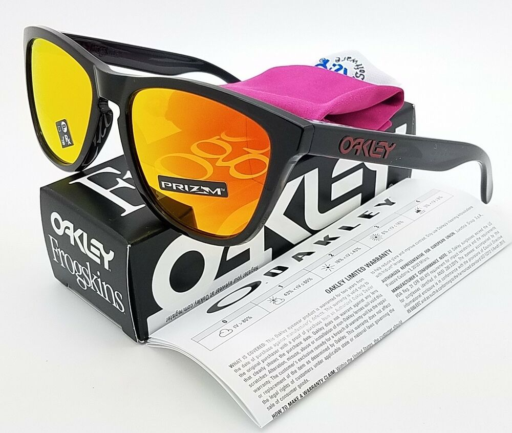 59f3e0f5f2 Details about NEW Oakley Frogskins sunglasses Black Ink Prizm Ruby 9013-C9  AUTHENTIC 9013-C955