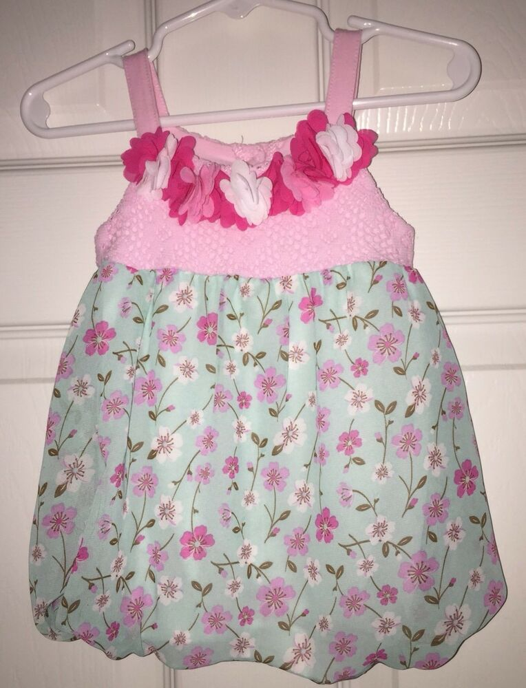 1196736e79c Details about NEW Baby Girl Floral Ruffle Bubble Romper Size 6 months