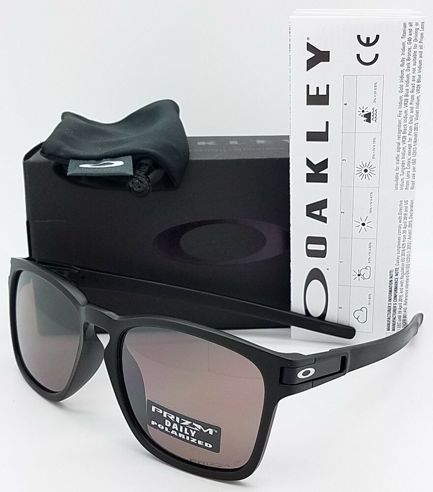 1792f50ec6168 Details about NEW Oakley Latch Squared sunglasses Black Prizm Polarized  Asian Fit 9358-06 SQ