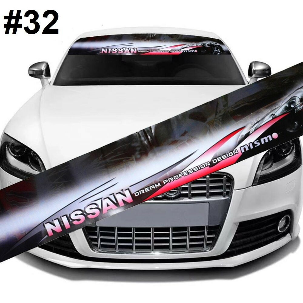 Details about nismo racing car front window windshield vinyl banner decal sticker 32
