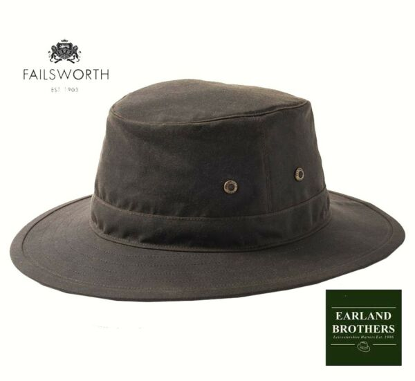 1810db6e Failsworth GREEN OLIVE Wax Cotton Hat Traveller Outback Fishing Outdoor Hat