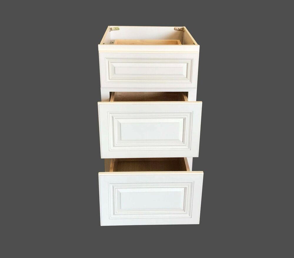 3 Drawers Antique White Bathroom Vanity Base Cabinet solid ...
