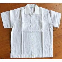 10 Vintage 1960s 1970s Men's White Short Sleeve Poly Cotton Shirts NOS Medium