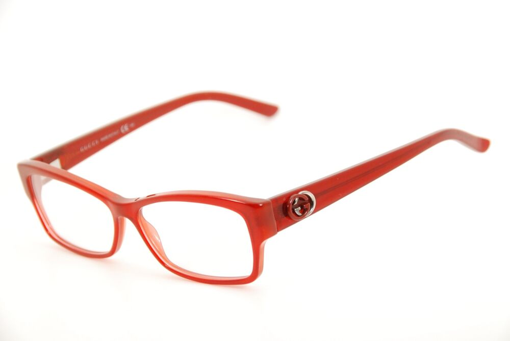 582d5bb589a Details about New Authentic Gucci GG 3203 06A Transparent Red 53mm Frames  Italy Eyeglasses RX