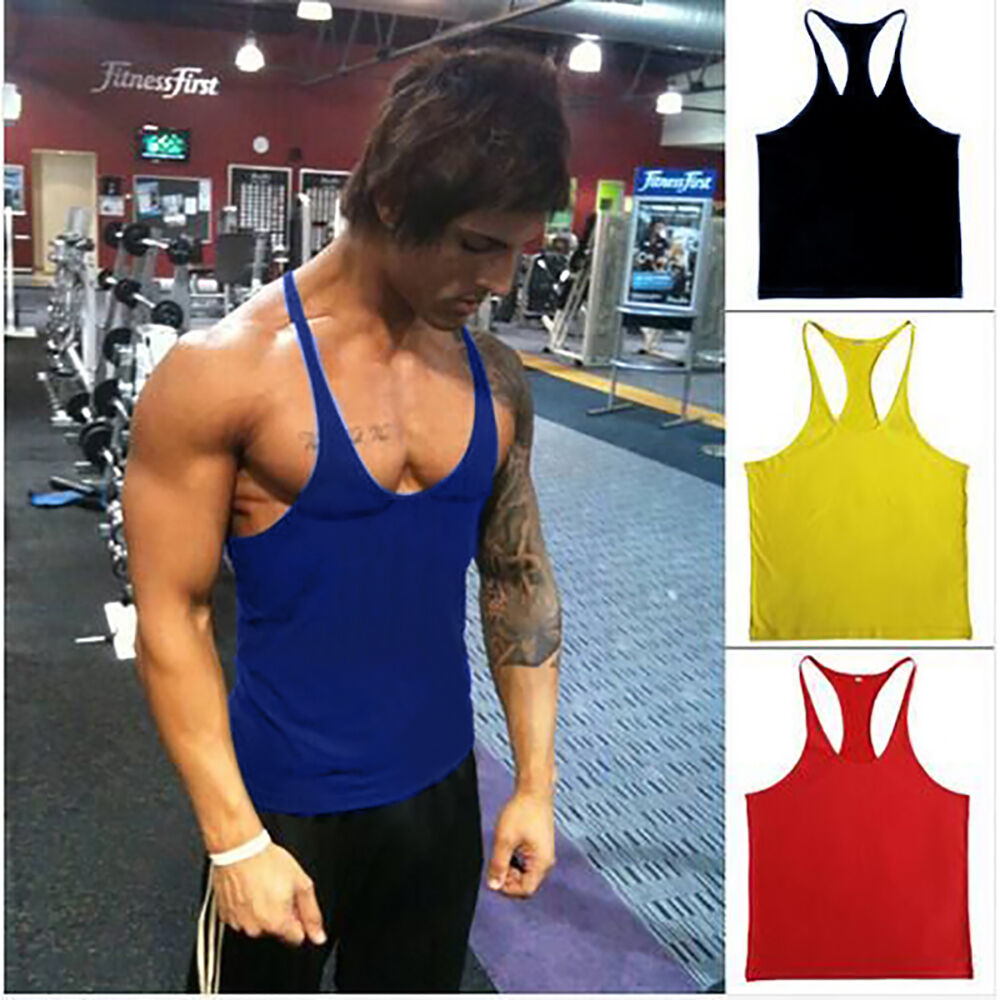 ad1185bb7c581 Men ZYZZ Gym Singlet Stringer Muscle Tank Tops Fitness Sport Shirt Y BACK  Racer