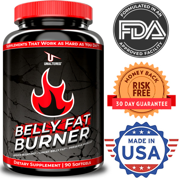 CLA Belly Fat Burner Pills - MAX STRENGTH Stomach Weight Loss - Lose & Burn Fat
