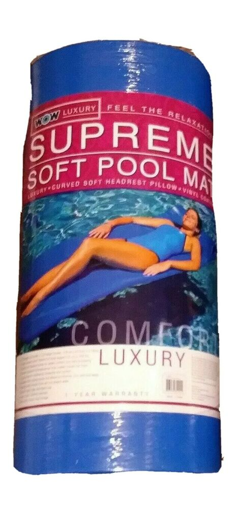 Details About Wow Luxury Supreme Soft 70in Foam Pool Mat Raft Lounger Float Blue