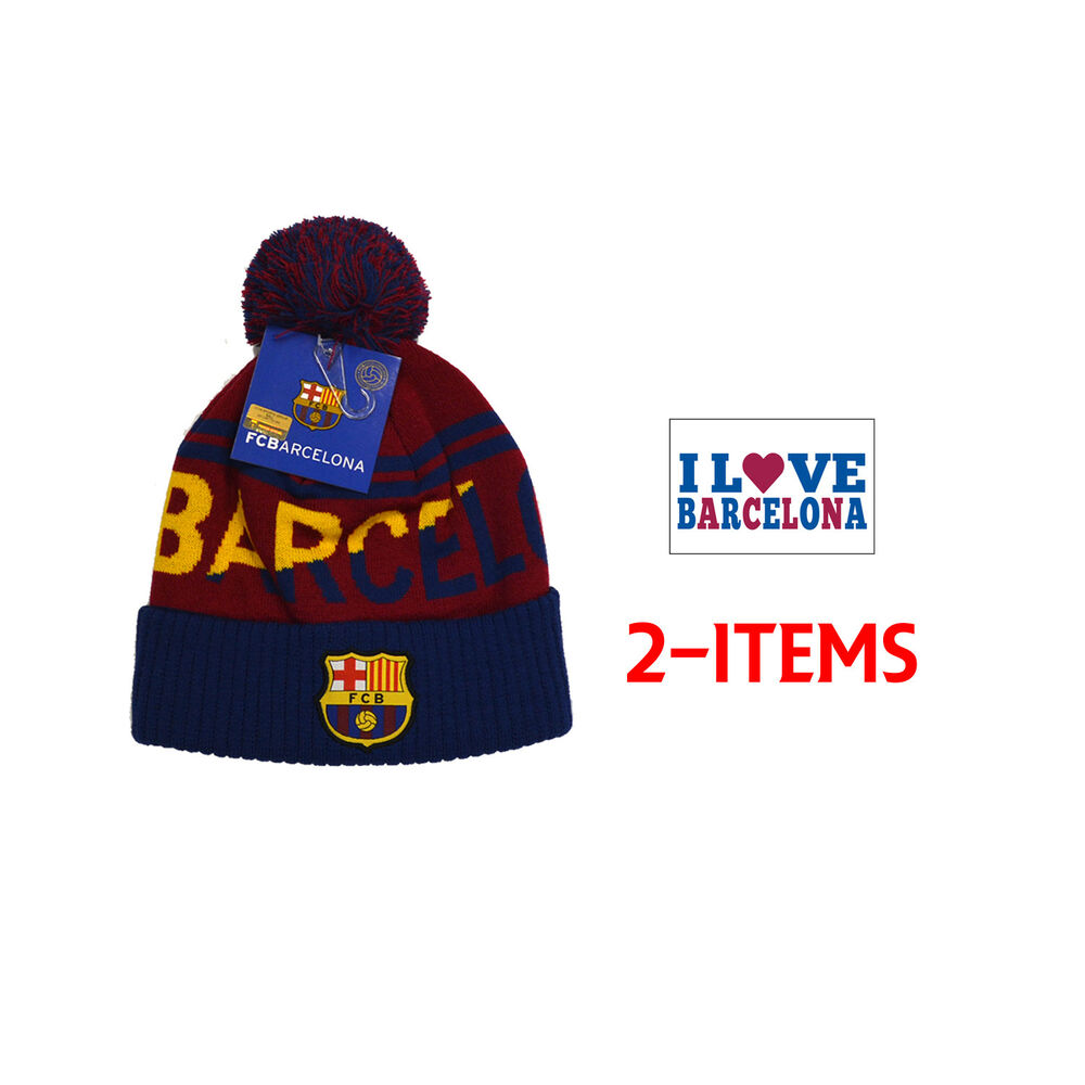 2ac3e83a6c2a44 Details about FC BARCELONA SOCCER BEANIE HAT CAP official licensed - skull  shipped fcb 005