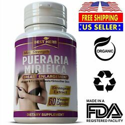 60 PURE PUERARIA MIRIFICA BREAST GROWTH CAPSULES BUST ENLARGEMENT PILLS 5000mg