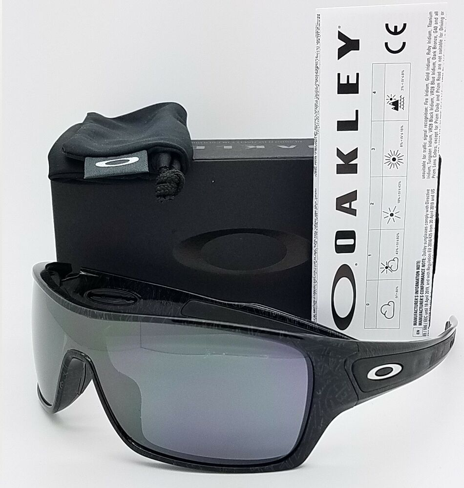 0cca2c5cf33 Details about NEW Oakley Turbine Rotor sunglasses Ghost Text Black Iridium  9307-02 AUTHENTIC