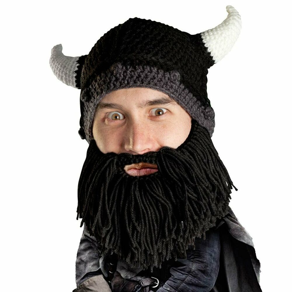 55bc96d8 Details about Beard Head Barbarian Looter Black Warm Thermal Winter Ski  Mask With Beanie Hat
