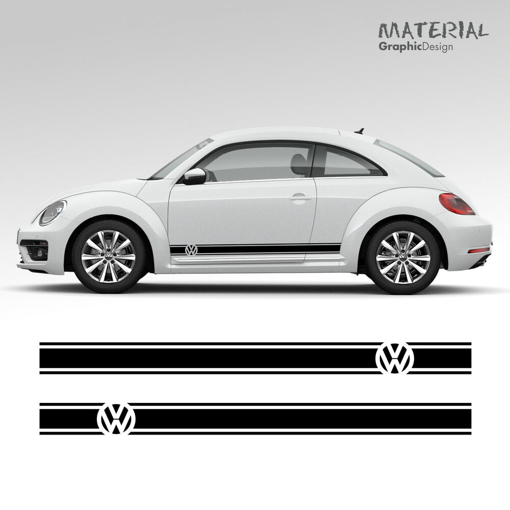 Details about volkswagen vw beetle car side stripes graphics stickers decals transfer rsi