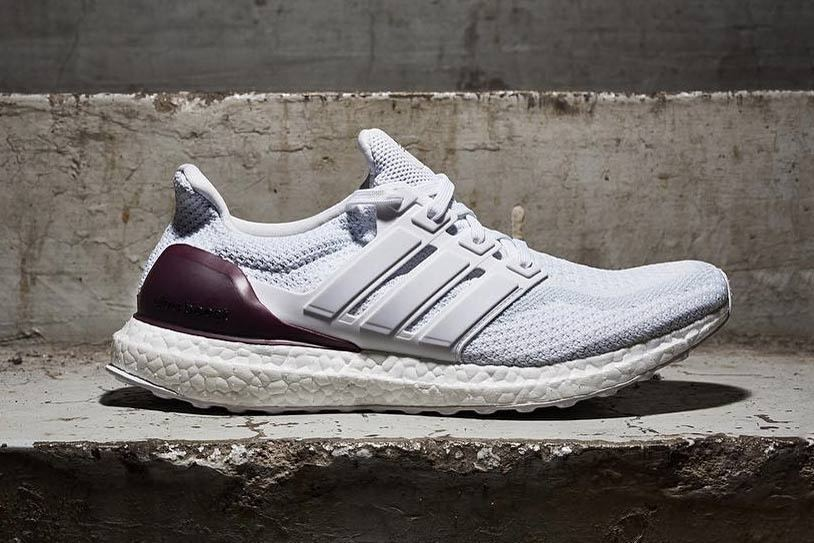 871691aa716a5 Details about Adidas Ultra Boost 2.0 Texas A M PE size 15 White Burgundy  Maroon Aggies BB0802