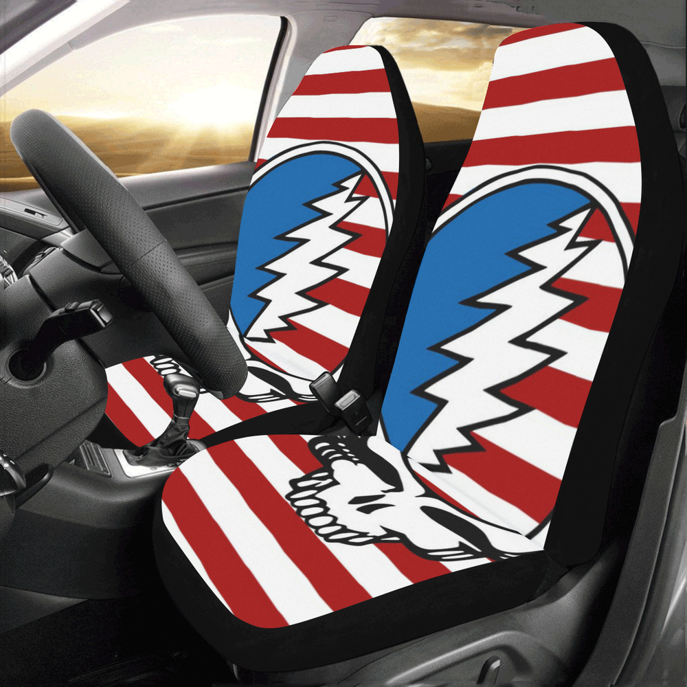 Universal Fit Car Seat Covers Grateful Dead Set Of 2 6186977526089