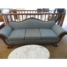 Antique victorian sofa with beautiful Mahogany carving. Excellent condition!